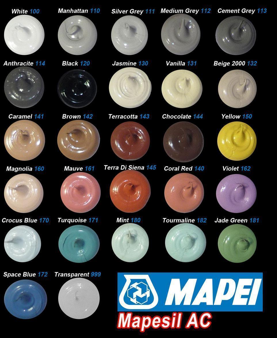 Mapesil AC Цветной силиконовый герметик
