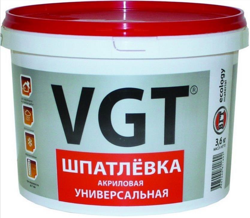 Шпатлёвка VGT акриловая универсальная