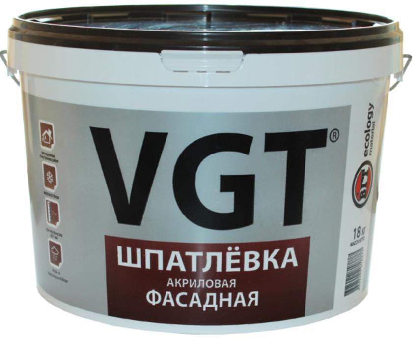 Шпатлёвка VGT акриловая фасадная