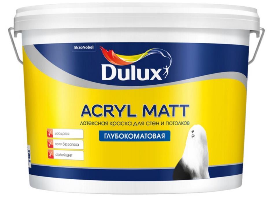Acryl Matt Латексная краска для стен и потолков Dulux