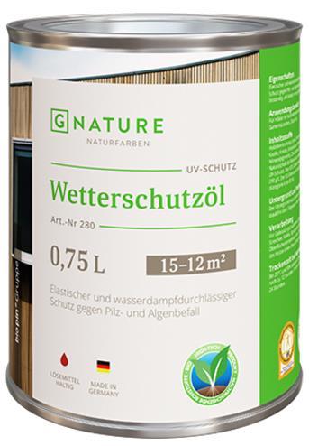 Защитное масло для внешних работ Gnature №280 Wetterschutzöl