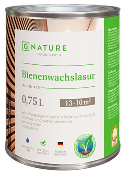 Лазурь с пчелиным воском Gnature №470 Bienenwachslasur