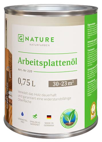 Масло для столешниц Gnature №220 Arbeitsplattenöl
