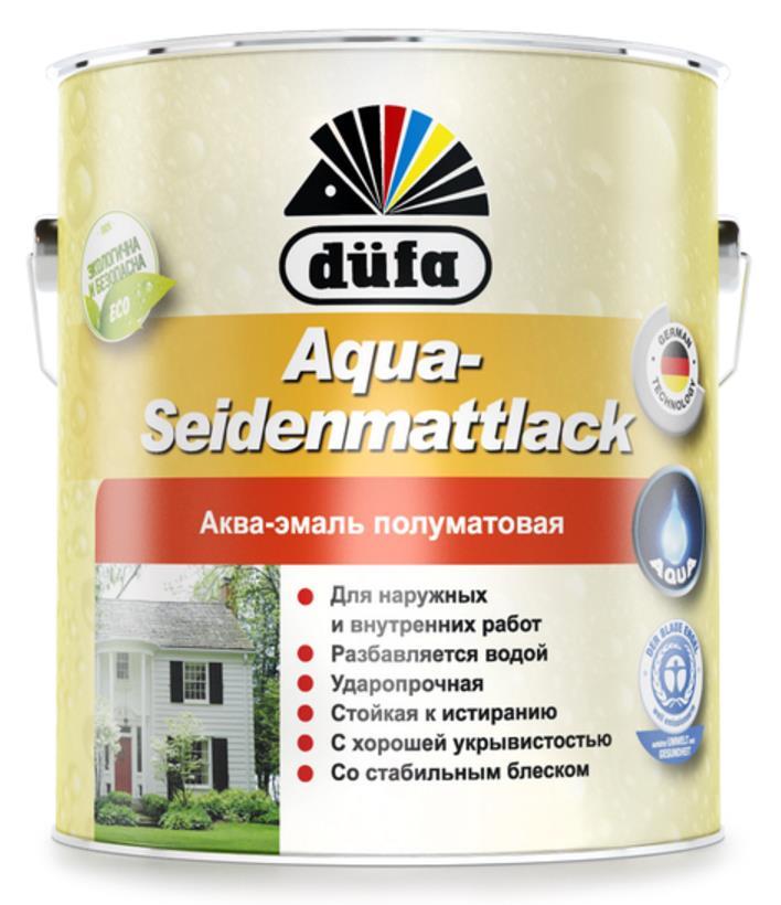 Aqua Seidenmattlack Аква-эмаль полуматовая Dufa
