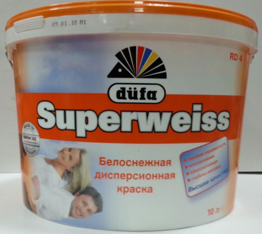 Superweiss Düfa (Германия) Краска дисперсионная для внутренних работ
