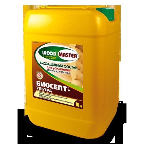 Biosept-ultra Biozashchitnyi sostav dlia usilennoi zashchity drevesiny 10