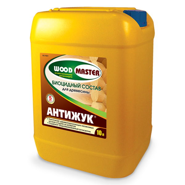 Wood Master Antizhuk Biotsidnyi sostav dlia drevesiny