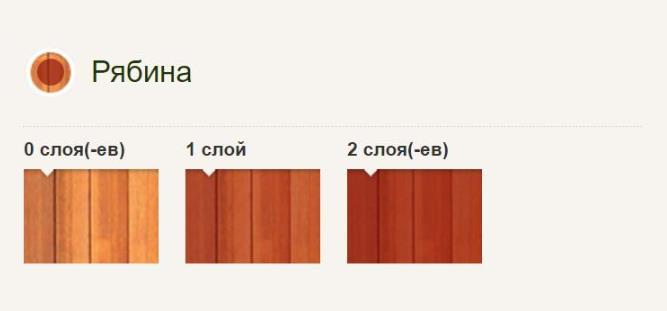 Pinotex Ultra Pinoteks Ul'tra Vysokoustoychivaya dekorativnaya propitka dlya zashchity drevesiny Ryabina