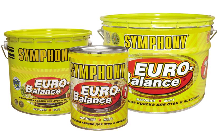 SYMPHONY EURO-BALANCE 7 AKRILATNAYa GLUBOKO MATOVAYa KRASKA SUPER-BELAYa