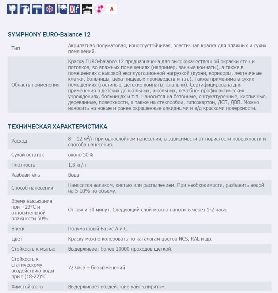 SYMPHONY EURO-Balance 12 AKRILATNAYa POLUMATOVAYa KRASKA 1