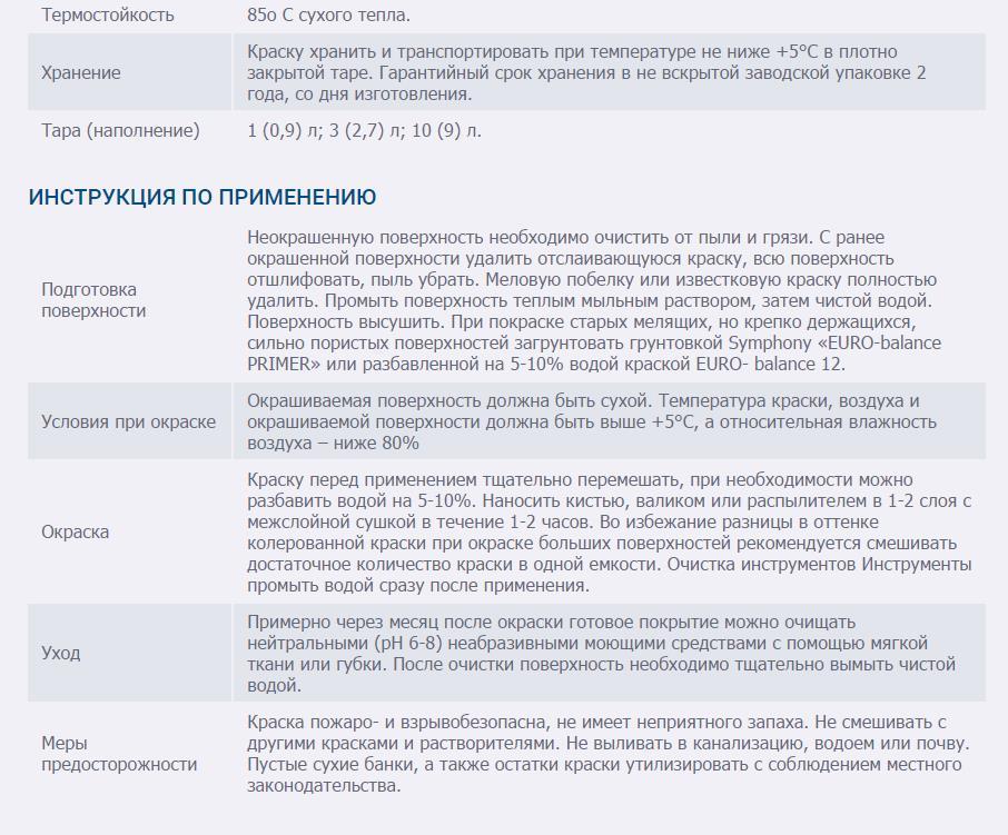 SYMPHONY EURO-Balance 12 AKRILATNAYa POLUMATOVAYa KRASKA 3