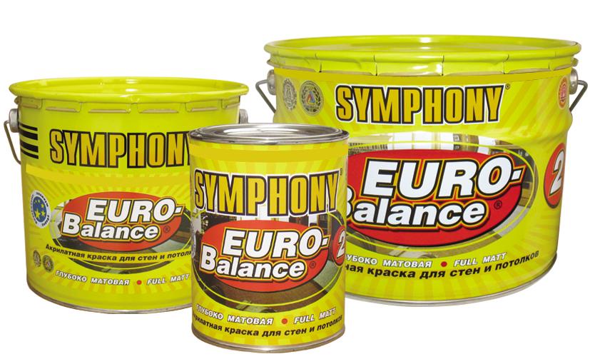 SYMPHONY EURO-Balance 2 AKRILATNAYa GLUBOKO MATOVAYa KRASKA SUPER-BELAYa metall.