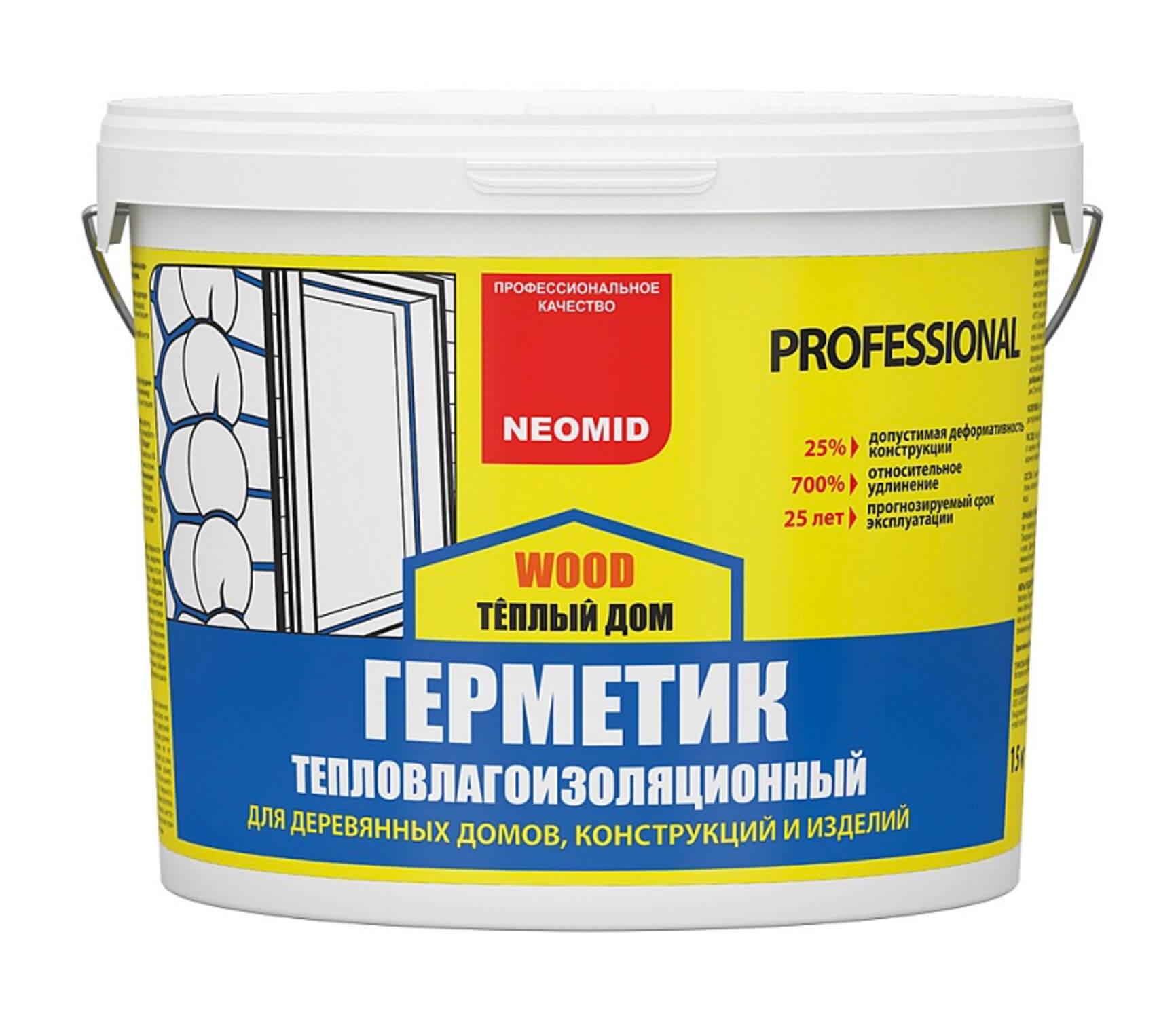 Neomid Wood Professional : Neomid Teplyy Dom germetik shovnyy dlya dereva 3 kg