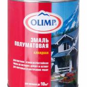 Эмаль алкидная OLIMP полумат