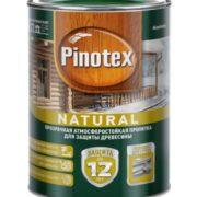 Pinotex natural Prozrachnaya atmosferostoykaya propitka dlya zashchity drevesiny 0,75