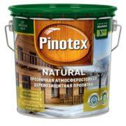 Pinotex natural Prozrachnaya atmosferostoykaya propitka dlya zashchity drevesiny 2.7l