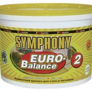 SYMPHONY EURO-Balance 2 AKRILATNAYa GLUBOKO MATOVAYa KRASKA SUPER-BELAYa plastik. 9l